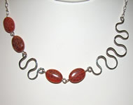 fire jasper squiggles necklace