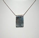 small hammered rectangle pendant