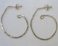 hammered half hoop earrings